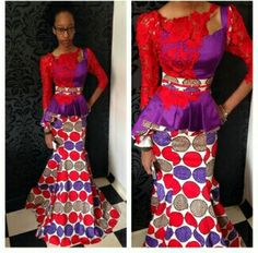 Ankara skirt and blouse by style temple