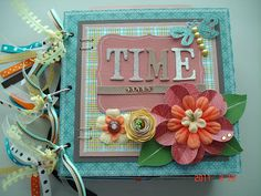 Scrapbooking by Phyllis: Time Flies 8x8 Premade Chipboard Album