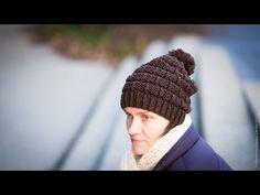 """Tuto tricot : bonnet homme/femme motif """"chaînette"""" - YouTube"""