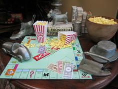 Monopoly Set Jumbo Decorative Game Pieces By Cyan Designs | Would love to have these across a shelf in my game room!