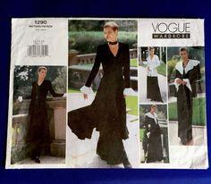 Vogue Sewing Pattern 1290 Jacket Dress Top Pants Sizes 12 14 16 Uncut Bust 34-38 #VoguePatterns #LooseandsemifittedBelowKneeorEveningLength