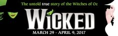 """Only 2 days left to see the untold true story of the Witches of Oz...WICKED...at RBTL's Auditorium Theatre. Get your tickets for the show that has been hailed by The New York Times as """"the defining musical of the decade"""". Don't miss out on this performance! http://www.rbtl.org/events/wicked/"""