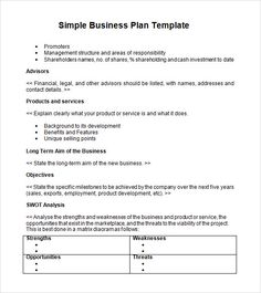 The 11 best simple business plan images on pinterest simple business plan templatescreating a business plan simple business plan template business plan accmission