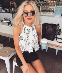 How cute is @laurajadestone in our Cameo top?! Available in store and online! #shoprodeo #shoprodeoonline