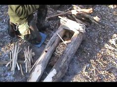 Building a Long Fire.  This apears to be a really good fire method for winter fires.
