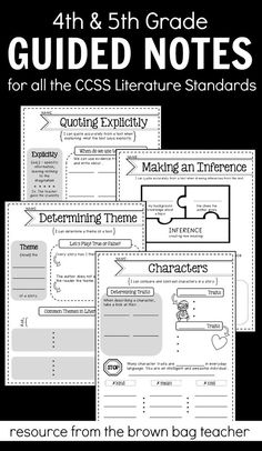 Introduce and teach strategies for quoting explicitly, inferring, summarizing, determining theme, identifying point of view, comparing characters, and identifying types of figurative language.
