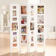 Photo Frame Room Divider Screen Memories Photo Frame Room Divider White 4 Panel