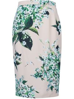 DOLCE and GABBANA Floral Print Pencil Skirt