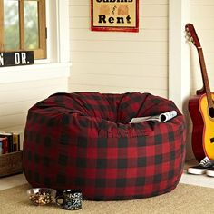 I love the Buffalo Check Red Beanbag on pbteen.com