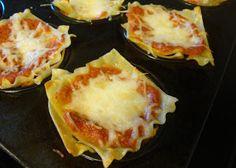 Two Cannoli: Recipe time: Mini lasagna cups