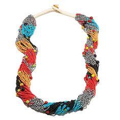 Rara Avis by Iris Apfel Multicolor Seed Bead Necklace