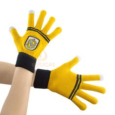 """Harry Potter Hufflepuff Screentouch """"Magic Touch"""" Gloves"""