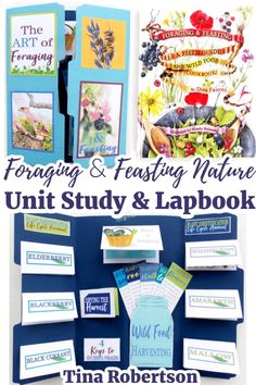 Foraging and Feasting Nature Unit Study and Lapbook. This foraging and feasting nature unit study is not only a fun way to teach some basic survival skills like learning how to live off the land, but a great way to sneak in tips about how to cook and about plants. CLICK HERE to grab this FREE Foraging and Feasting Lapbook and unit study resources for a fun homeschool unit study! Ways Of Learning, Kids Learning Activities, Teaching Kids, Teaching Resources, Alternative Education, Unit Studies, Nature Study, Field Guide, Survival Skills