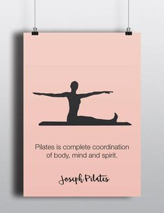 PILATES POSTER Set of 3 Pilates Poster Pilates Art Print