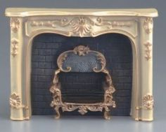 Dollhouse Miniature Fireplace in Cream by Reutter Porcelain Fireplace in Cream by Reutter Porcelain. Created for the scale mini setting. Imported from Germany. Made of painted resin. Steps 3 inches high x 4 inches large x inches deep. Decor, Natural Stone Fireplaces, House, Home, Cream Fireplace, Reutter Porcelain, Marble Fireplaces, Bedroom Interior, Fireplace