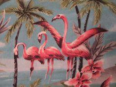 9dcbdb1d8 Beautiful retro flamingo Hawaiian shirt SMALL or MEDIUM #OneResolution  #ButtonFront Flamingo Shirt, Retro