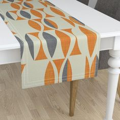 Natural Heavy Cotton Sa Minorca Table Runners Add A Quick Splash Of Color And Pattern To Your Dining The R Mid Mod Kitchen
