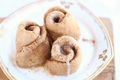 Healthy Yeast-Free Cinnamon Rolls