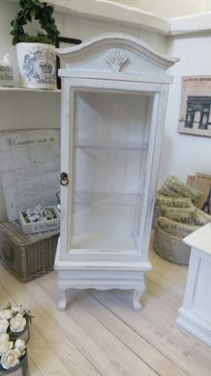 A cabinet in shabby chic style for the dollhouse by Miniatyrmama
