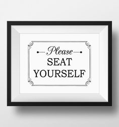Bathroom Art, Please Seat Yourself Wall Art, Funny Bathroom Art, PRINTABLE, Best…