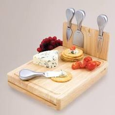 Folding Cheese Board Tool Set: Natural by World Market