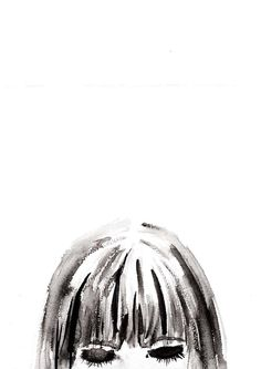 Gesichtillustration, Aquarell, modefigurinen, stress, Figurinen, mode, Zeichnungen, Illustrationen, Illustration, Fashion Illustrations, Mode Illustration, Sketch, Fashion Sketch