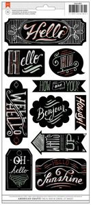 Greeting Chalkboard Stickers - American Crafts