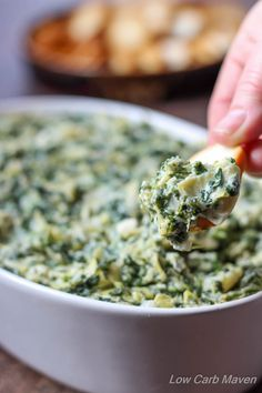 This Low Carb Feta Spinach Artichoke Dip is gluten-free, full of tangy flavor and comes together in minutes. Serve as a snack or appetizer with low carb crackers. Perfect for your low carb, ketogenic gatherings. Ketogenic Recipes, Diet Recipes, Healthy Recipes, Ketogenic Diet, Salad Recipes, Banting Diet, Lchf, Delicious Recipes, Easy Recipes