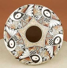 Ancient Voices Museum located on the web - Pottery - Hopi Tewa