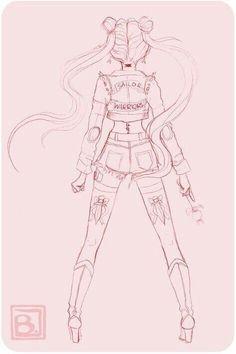 Sailor Moon by joanadraws Sailor Moons, Arte Sailor Moon, Sailor Moon Fan Art, Sailor Jupiter, Sailor Scouts, Wallpapers Sailor Moon, Line Art, Manga Anime, Sailor Moon Kristall