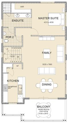 The Arkana style two storey home by Great Living Homes is a balance between modern design & innovation, ideal for family living in Mandurah & Perth Narrow House Plans, Dream House Plans, Shotgun House Plans, Tiny Homes, New Homes, Casas Containers, Cabin Floor Plans, Storey Homes, Granny Flat
