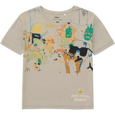 UNIQLO Women Sprz Ny Short Sleeve T-Shirt (Jean-Michel Basquiat) ($20) ❤ liked on Polyvore