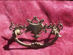 Antique Drawer Pull Handle Ornate Rococo or Victorian Era