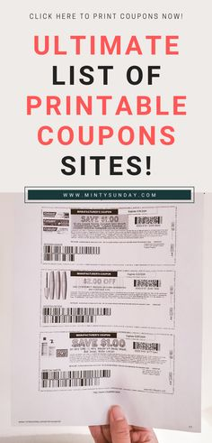 Where to get coupons: online printable coupons and paper coupons long list of websites and sources + recommended printers How To Start Couponing, Couponing For Beginners, Couponing 101, Extreme Couponing, Save My Money, Ways To Save Money, Money Saving Tips, Print Coupons, Printable Coupons
