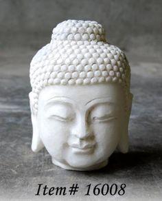 white buddha bust