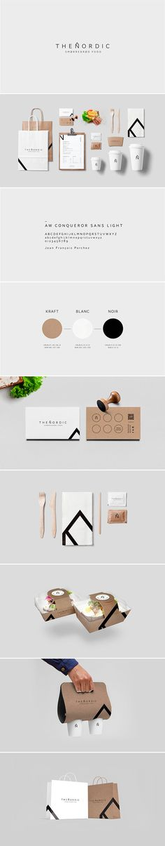 identity / The Nordic by Swiss graphic designer Alexandre Pietra for a Scandinavian food truck. Brand Identity Design, Corporate Design, Graphic Design Typography, Web Design, Nordic Design, Logo Design, Nordic Art, Food Branding, Restaurant Branding