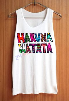 HAKUNA MATATA Shirt The Lion King Animal Shirt Top Tank Top Tee Tunic Singlet Women - Size S M L on Etsy, $15.75