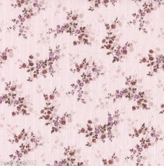 Pink and brown floral print cotton | 140cm wide | sold by metre or FQ