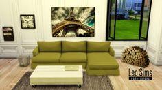 Leo 4 Sims: Tea and Coffee sofa • Sims 4 Downloads