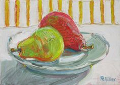 Pears with Yellow Stripes