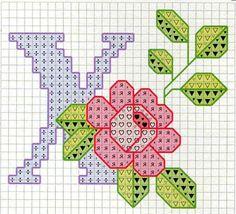 Rose alphabet X
