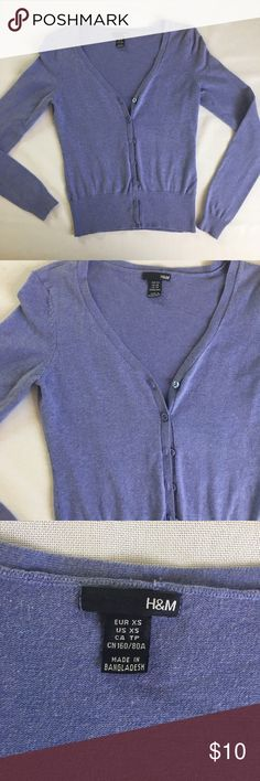 Lavender colored cardigan In good used condition! Such a stunning color. H&M Sweaters Cardigans