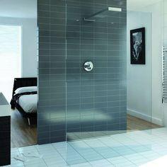 Playtime walk-through shower 1400 and integrated shower head #MyBeautifulBathroom #ClearwaterBaths