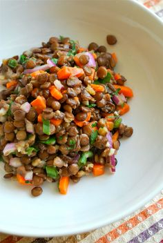 Enjoy this protein-and-fiber-packed Cold Lentil Salad recipe that's not only delicious, but great for your body, too!