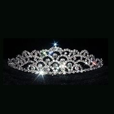 Crystal Mountain Bridal Tiara Headpiece If you're a princess, why not wear a crown!