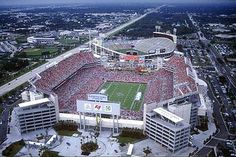 Raymond James Stadium, Home to the Tampa Bay Buccaneers ... The Big Sombrero in background!