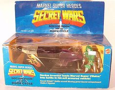 Check out the deal on Marvel Secret Wars - Doom Cycle With Dr Doom Figure (MISB) at Action Toys and Collectables Marvel Secret Wars, Action Figures, Vehicle, Cycling, Comic Books, Toy, Dolls, Comics