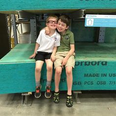 The buddies at Lowes. #parenting