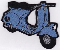 Blue Vintage Vespa Embroidery Applique Patch par shopfrida sur Etsy, $12,00
