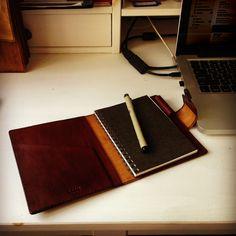 Little A6 Notepad! #TRIMleather #handmade #leathergoods #leatherlovers #LeatherNotePad